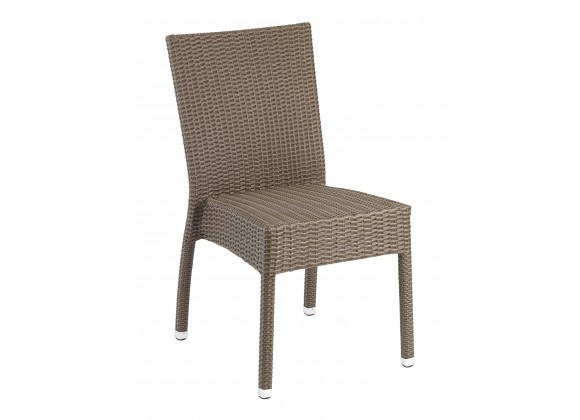 Hand Woven PE Synthetic Wicker Over Aluminum Side Chair - WIC-02