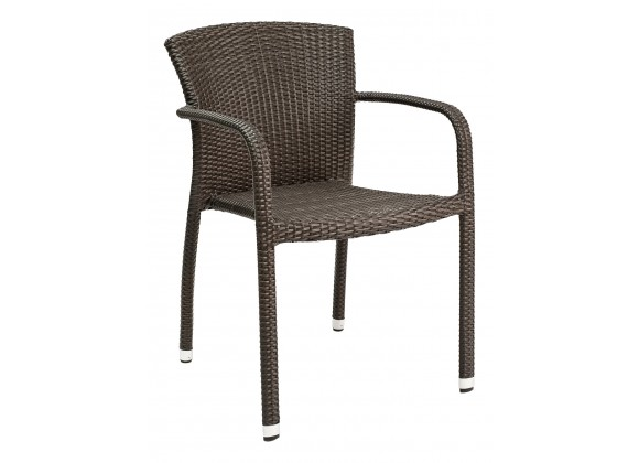 Hand Woven PE Synthetic Wicker Arm Chair - WIC-05