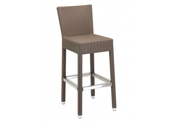 Florida Seating Hand Woven PE Synthetic Wicker Over Aluminum Aluminum Frame Barstool - WIC-07B - Indo
