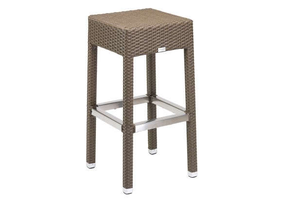 Hand Woven PE Synthetic Wicker Over Aluminum Frame Barstool - WIC-17BB - Indo