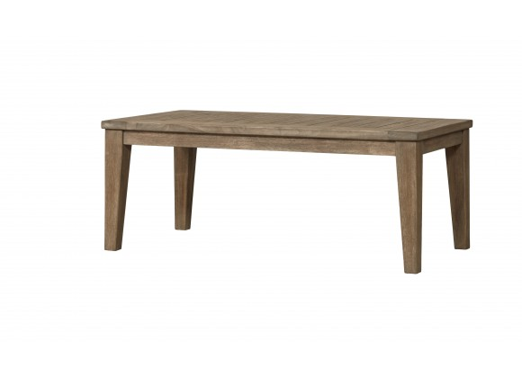 "Wildwood 45"" Rectangular Teak Cocktail Table - Angled"