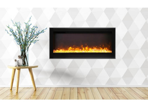 """34"""" Basic Clean-face Electric Built-in With Glass With Black Steel Surround - Lifestyle"""