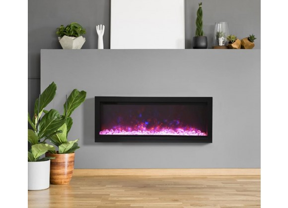 """42"""" Basic Clean-face Electric Built-in With Glass With Black Steel Surround - Lifestyle"""