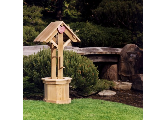 All Things Cedar 4' Wishing Well - Lifestyle
