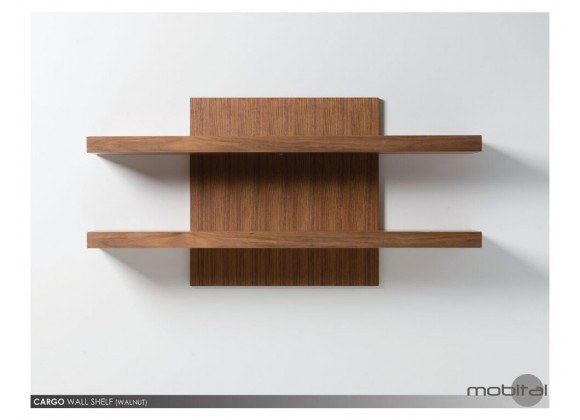 Cargo Wall Shelf Natural Walnut - Mounted