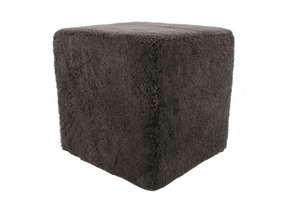 Moe's Home Collection Shepherd Wool Stool - Dark Grey