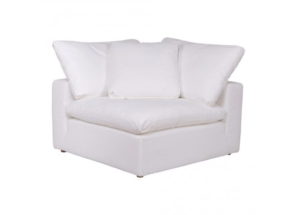 Moe's Home Collection Clay Corner Chair Livesmart Fabric - Cream White