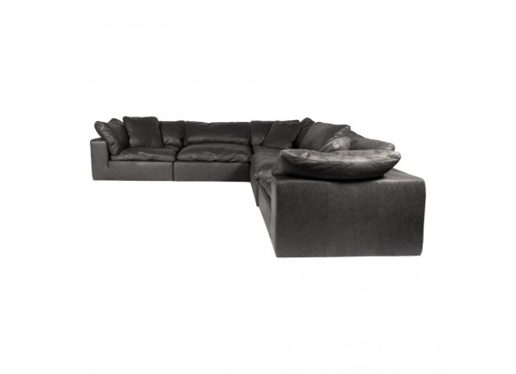 Moe's Home Collection Clay Classic L Modular Sectional Sofa Nubuck Leather