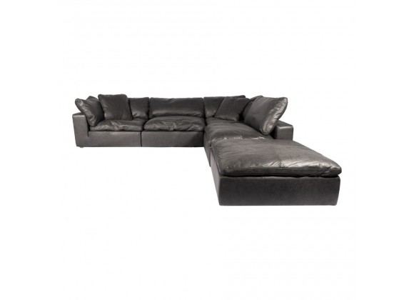 Moe's Home Collection Clay Dream Modular Sectional Sofa Nubuck Leather