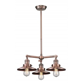 Innovations Lighting Railroad Shade 3 Light Chandelier - Antique Copper Finish (M3)  sc 1 st  Home Furniture and Patio & Innovations Lighting   Home Furniture and Patio azcodes.com