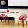 Crystal Polycarbonate Modern Dining Chair