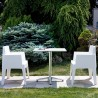 Box Resin Outdoor Dining Arm Chair - White