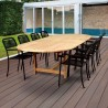 Amazonia Oosterdam 9 Piece Teak Double Extendable Rectangular Patio Dining Set
