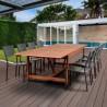 Amazonia Koningsdam 9 Piece Rectangular Patio Dining Set - Lifestyle