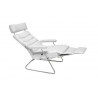LAFER ADELE RECLINING CHAIR - White Leather with White Base - Open