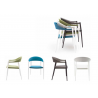 Powder Coated Aluminum Frame Arm Chair W/ Textilene Seat And Back - TEX-01 A - With Color Variants