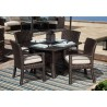 """Cardiff Wicker 48"""" Boat Shaped Dining Table - Lifestyle"""