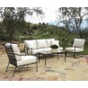 Provence Aluminum Sofa with Club Chair, Club Rocker and Coffee Table - Lifestyle
