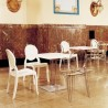 Ice Werzalit Top Round Dining Table with Transparent Base 24 inch