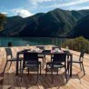 Miami Wickerlook Rectangle Dining Set - Black