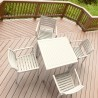 Ares Resin Square Dining Set with 4 chairs Dove Gray