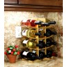 Oceanstar 12-Bottle Natural Bamboo Wine Rack - Full