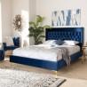 Baxton Studio Valery Upholstered Platform Bed - Navy Blue