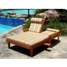 Summer Lounger - Double - With Cushions - Folded