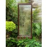 Gardenfall Etched Bamboo Water Fountain - Front