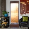 Gardenfall Bronze Mirror and Dark Copper Floor Fountain -