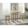 "Caramelized Tulip 36"" Counter Height Table - Lifetyle"