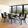 Compamia Bloom Extendable 7-Piece Patio Dining Set - Black