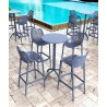 Octopus Round Bar Table Dark Gray