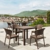 5 Piece Set Brown with Side Chairs - Brown