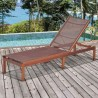 Amazonia Zuiderdam Patio Lounger - Brow