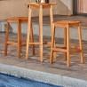 Vifah Olina Honey Eucalyptus Wooden Outdoor Dining Stool (2pcs), Lifestyle