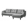Corey Sectional Dark Grey Right - Side Angled