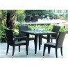 PVC Rattan 5-pc Patio Table Set