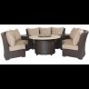 Bermuda 6-Piece Circular Sofa Set (Canvas Heather Beige)