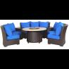 Bermuda 6-Piece Circular Sofa Set  (Canvas Pacific Blue)