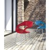 Shape Chair in Red PU With Aluminum - Lifestyle