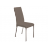 LOTO Italian Taupe Leather Dining Chair - Tan