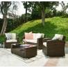 Emma Collection Outdoor Garden Patio Furniture 4PC set w/ Table